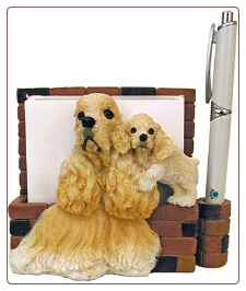 Buff Cocker Spaniel Pet Note Holder