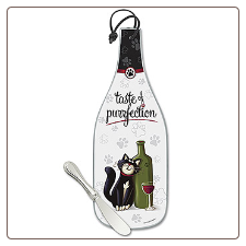 Wine Bottle Cheese Server - A Taste of Purrfection