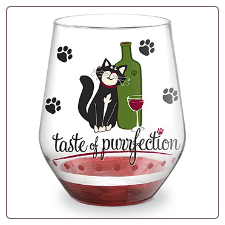 Wine Glass - Stemless - Taste of Purrfection