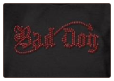 Rhinestone Bad Dog - Dog T-Shirt, Bandana or Hoodie