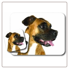 Boxer Mouse Pad & Coasters Set by Little Gifts