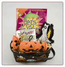 Mega Catnip for Halloween Fun Cat Gift Basket