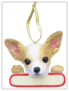 Chihuahua Holiday Personalized Ornament