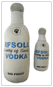 Arfsolut Vodka Designer Dog Toy by Haute Diggity Dog