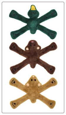 Plush Penta Pull Dog Toys by Doggles