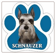 Schnauzer - Cropped Ear Dog Car Magnet