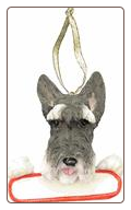 Schnauzer Holiday Personalized Ornament
