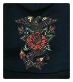 Rhinestone Eagle Rose Dog T-Shirt, Bandana or Hoodie