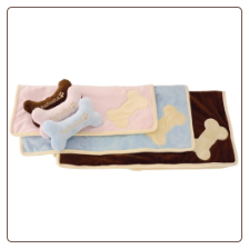 New Puppy Blanket and Bone Toy by Fou Fou Dog