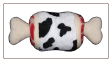 Meat Lovers Cow ThighBone  Dog Plush Toy by Hip Doggie