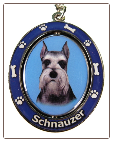Schnauzer, Cropped Ears, Dog Key Chain by E&S Imports