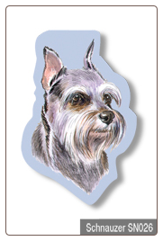 Sticky Notes - Schnauzer, Dog, Puppy, Note Pad by Little Gifts