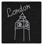 Rhinestone London Dog T-Shirt, Bandana or Hoodie