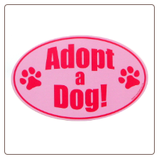 Dog Lover Car Magnet - Adopt A Dog by Kyjen
