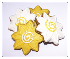 Spring Flower Dog Treats by Pawsitively Gourmet