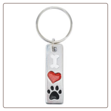 I Love My Dog - Pewter Keychain