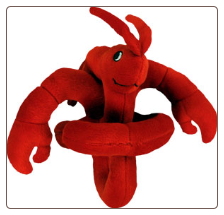 Lobster Sound Plush Talking Dog Toy by Loopies / Swag