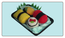 Sushi Pups 4 Piece Inside-Out Roll Special Plush Dog Toys