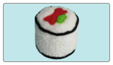 Sushi Pups Inside-Out Plush Dog Toys