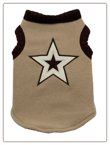 Tan Star Vest for Dog