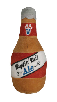 Waggin Tale Ale Squeaky Dog Toy