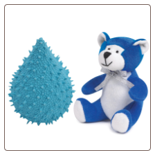 Blue Squeaky Spiky and Merry Bear