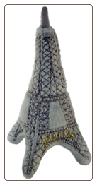 Eiffel Tower Plush Dog Toy by Haute Diggity Dog