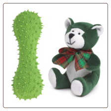 Green Squeaky Spiky and Merry Bear