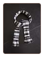 Grey Lurex Stripe Knit Scarf