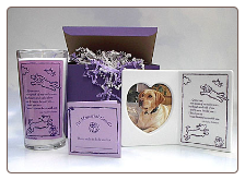 Furry Angel Pet Memorial Candle and Photo Frame