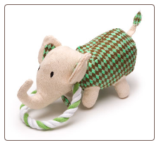 Safari Elle the Elephant Plush Dog Toy  by Charming Pet Products