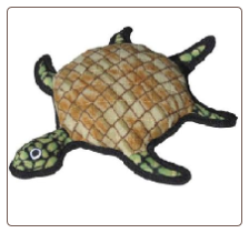 Tuffy Toy Sea Creatures Dog Toy - Burtle Turtle