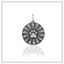 Reflection Paws Pendant - Sterling Silver Dog Lover Jewelry