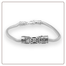 """7.5"""" Sterling Silver Screw Clasp Bracelet"""